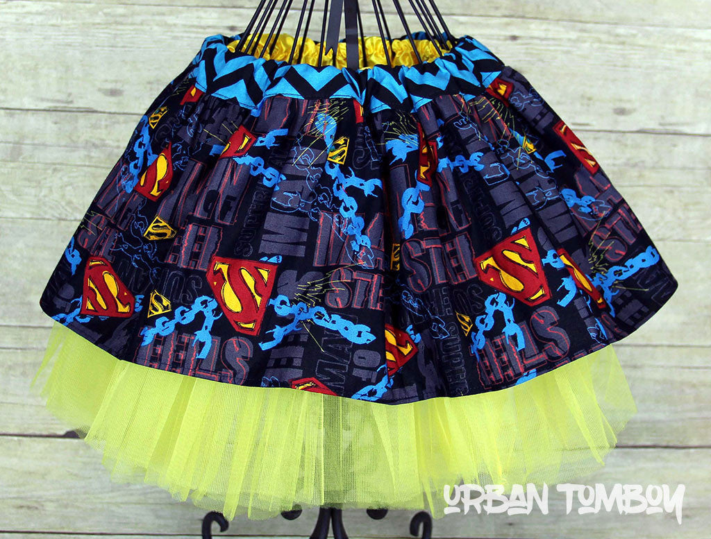 Superman Chains Skirt & Tutu Set