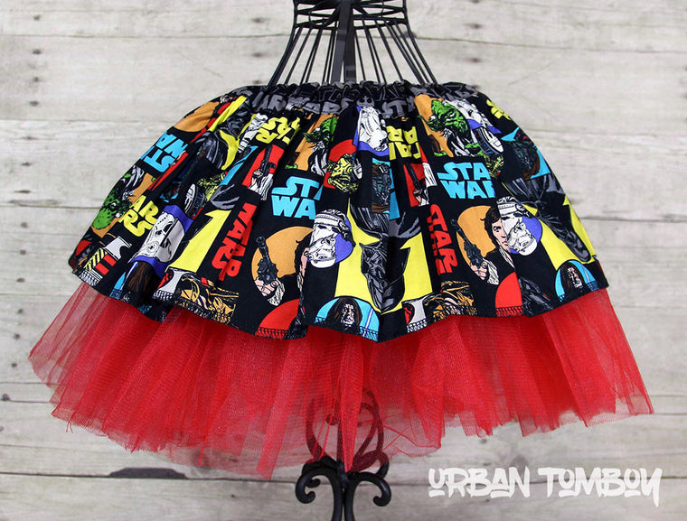 Star Wars Primary Classic Characters Skirt & Tutu Set