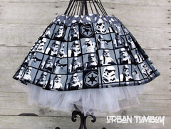 Star Wars Black & White Stormtrooper Blocks Skirt & Tutu Set