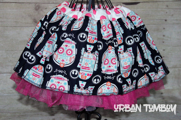 Star Wars Droid Sugar Skulls Skirt & Tutu Set