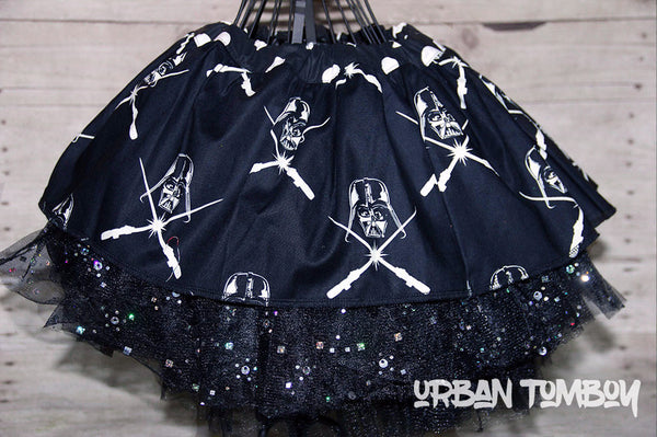 Star Wars Glow Vader Heads With Light Sabers Skirt & Tutu Set