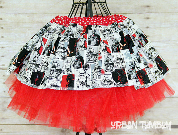 Star Wars Force Awakens Villan Blocks Skirt & Tutu Set