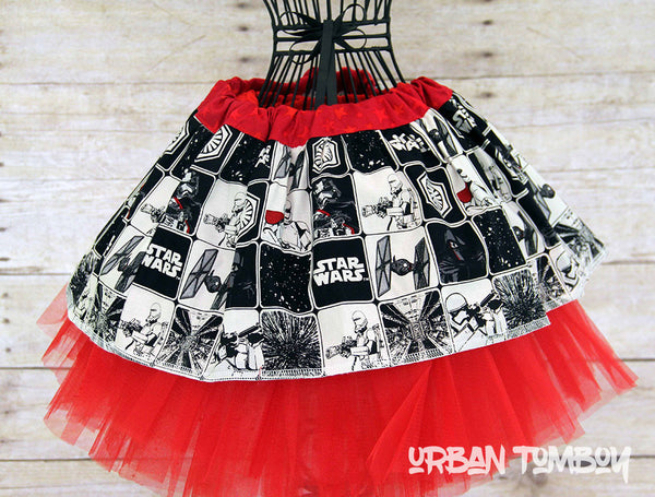 Star Wars Force Awakens Villan Squares Skirt & Tutu Set