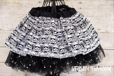 Star Wars Force Awakens Stormtrooper Helmets Skirt & Tutu Set
