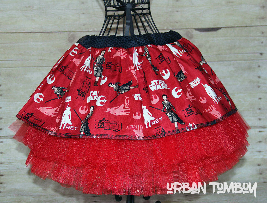 Star Wars Force Awakens Rey Red Skirt & Tutu Set