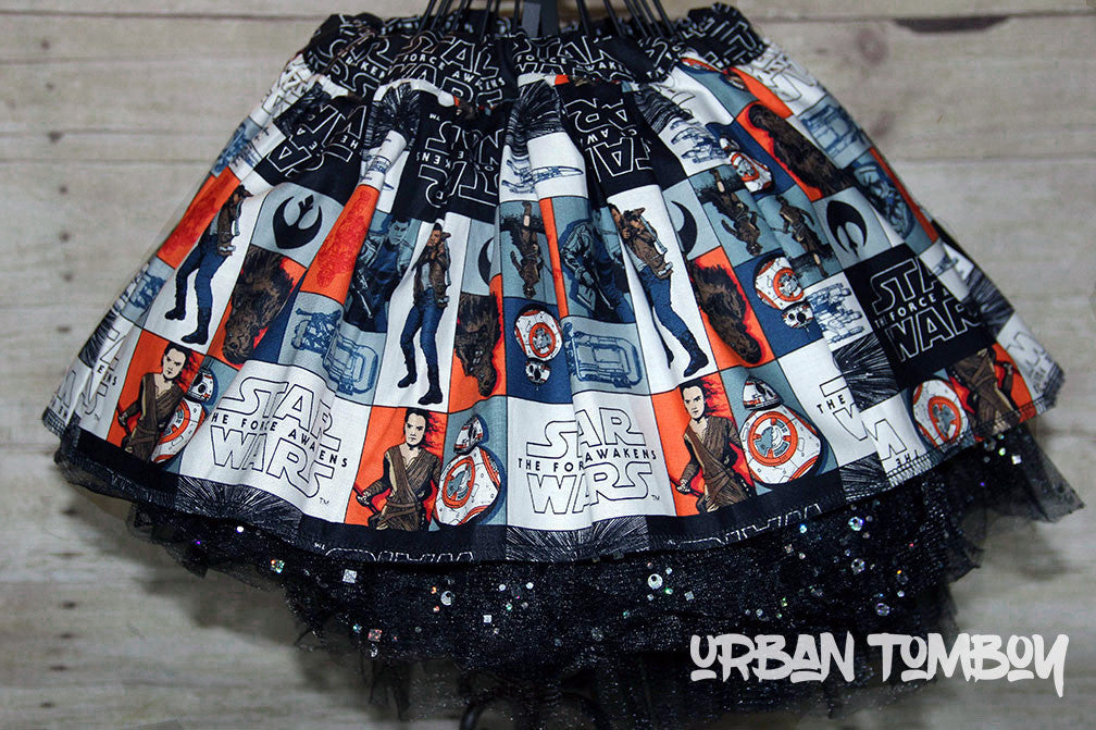 Star Wars Force Awakens Hero Blocks Skirt & Tutu Set