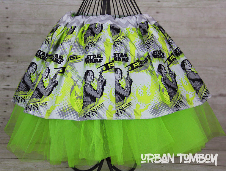 Star Wars Rogue One Jyn Erso Lime Skirt & Tutu Set