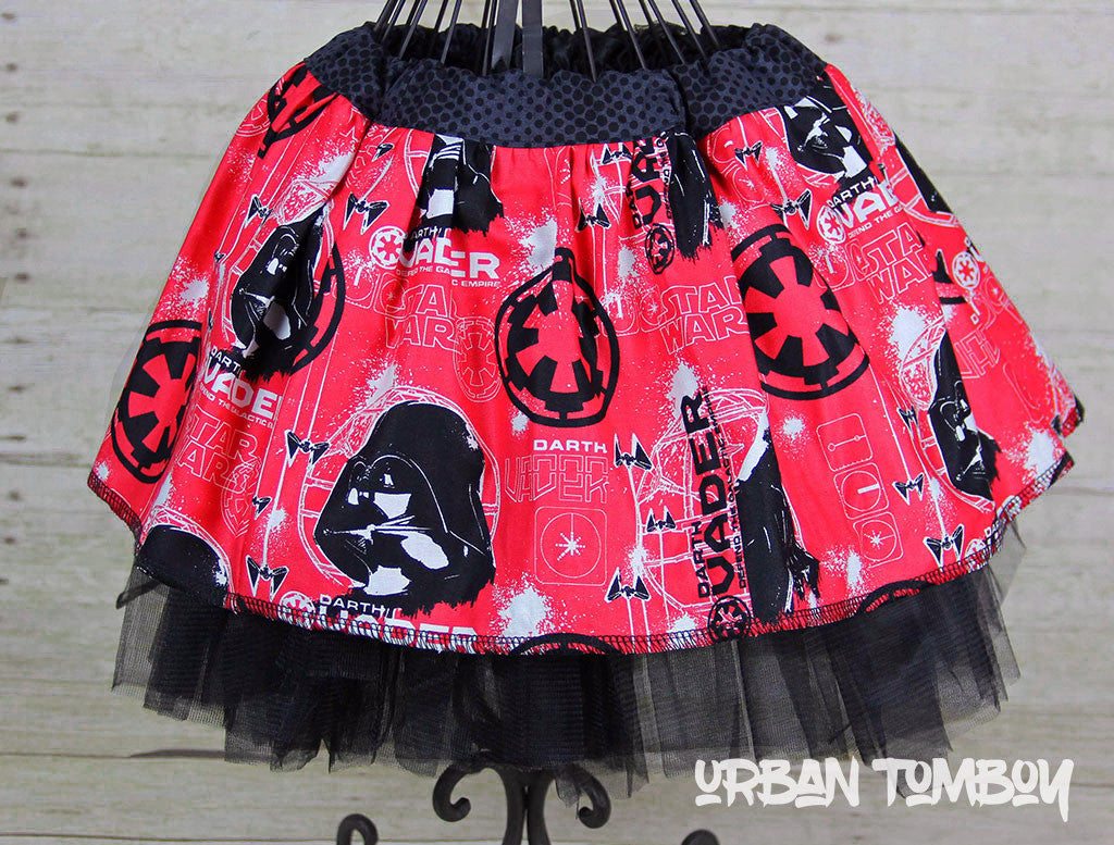 Star Wars Rogue One Red Vader Skirt & Tutu Set