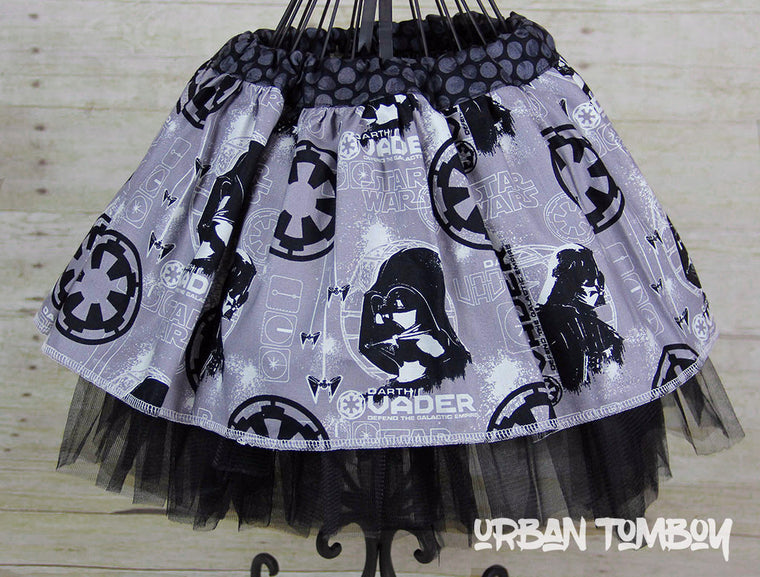 Star Wars Rogue One Grey Vader Skirt & Tutu Set