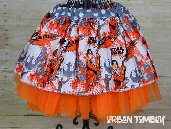 Star Wars Rogue One Jyn Erso Orange Skirt & Tutu Set