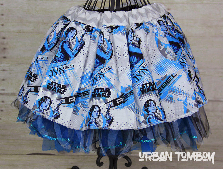Star Wars Rogue One Jyn Erso Blue Skirt & Tutu Set