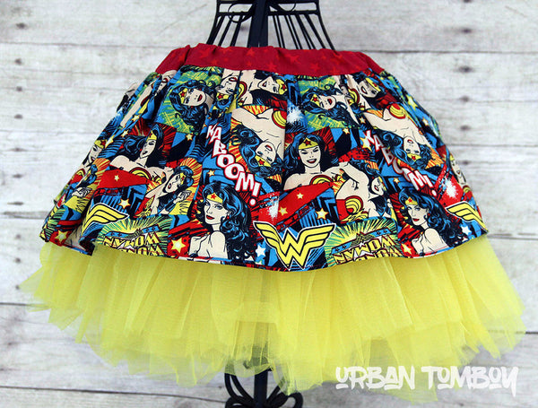 Wonder Woman Kaboom Skirt & Tutu Set