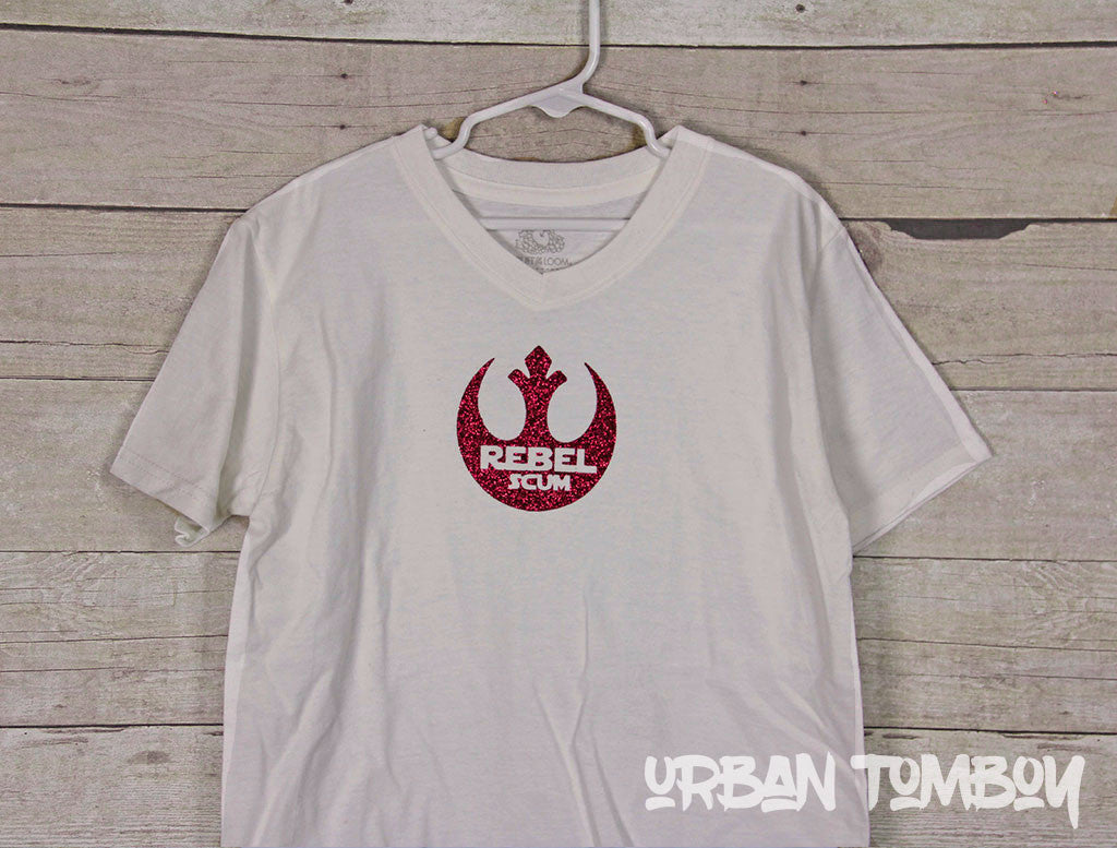 Rebel Scum Hot Pink Vinyl Short Sleeve T-Shirt
