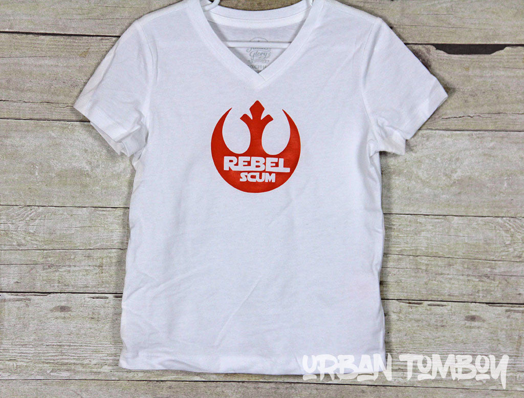 Rebel Scum Orange Vinyl Short Sleeve T-Shirt