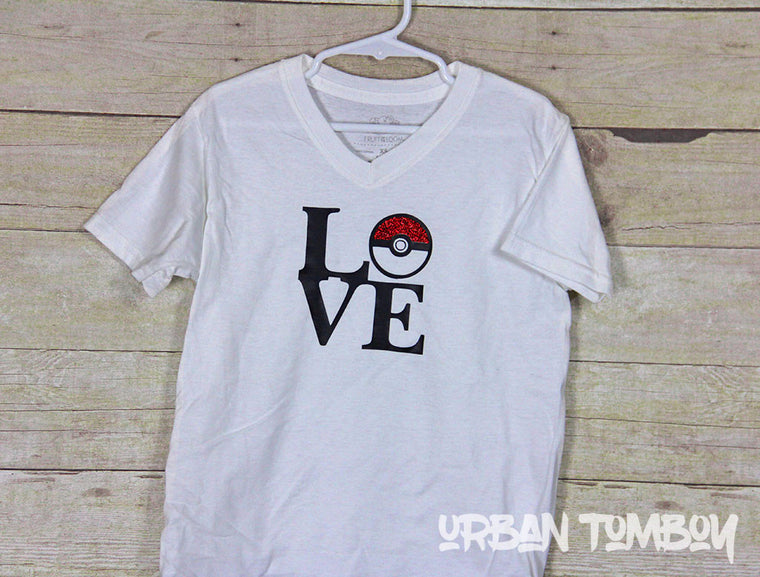 Love Pokemon Short Sleeve T-Shirt