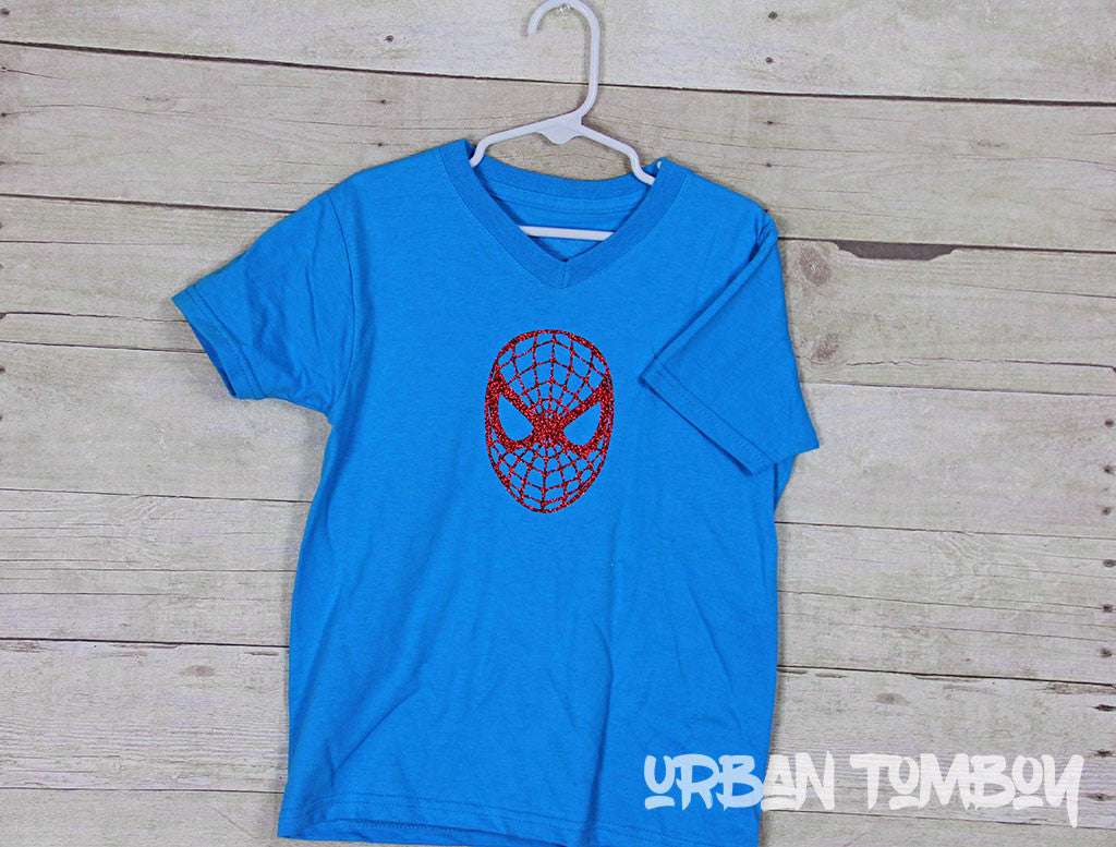 Blue Spider-man Short Sleeve T-Shirt