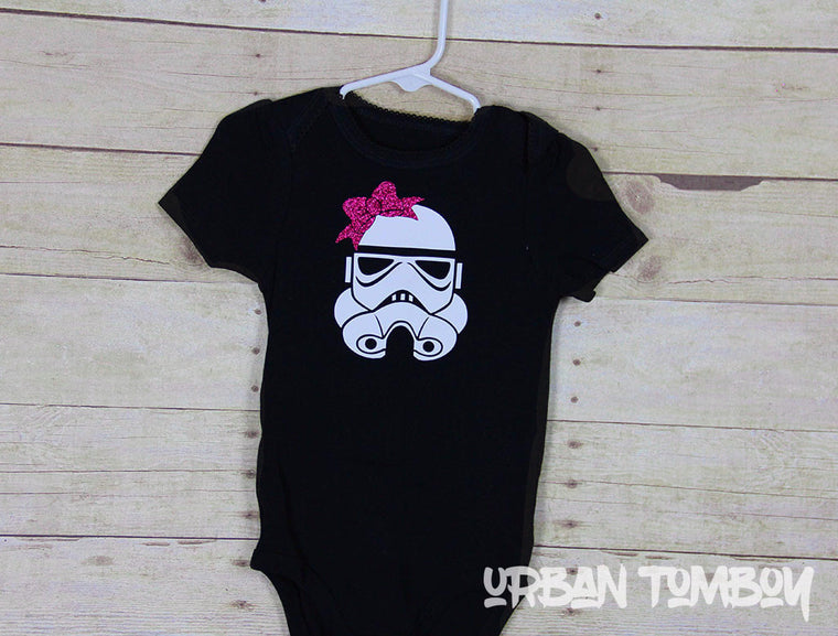 Stormtrooper Bow Black Bodysuit