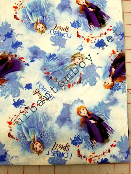 Frozen 2 sisters fabric
