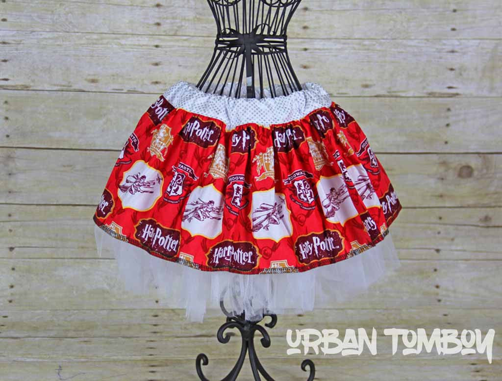 Harry Potter Red Skirt and Tutu Set
