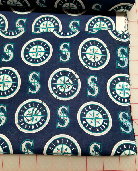 Seattle Mariners Cotton Woven fabric