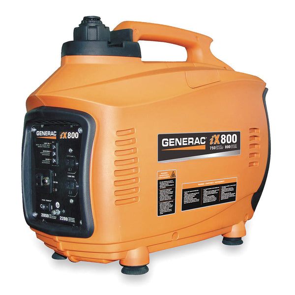 Recoil Gasoline Portable Inverter Generator, 800 Rated Watts, 850 Surge Watts, 120VAC - FREE SHIPPING