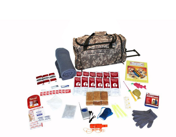 Survival Kit for Children - CAMO Wheel Bag