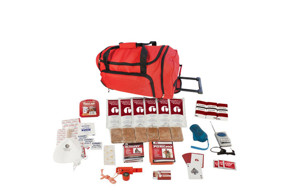 Basic Survival Kit - RED Wheel Bag
