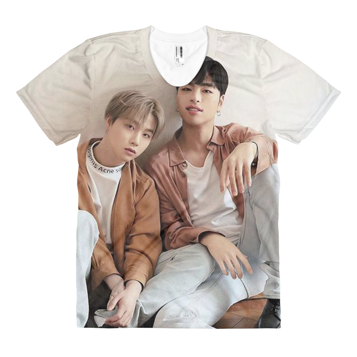 iKON Junhoe And Jinhwan Visual Kings Women Full Print T-Shirt