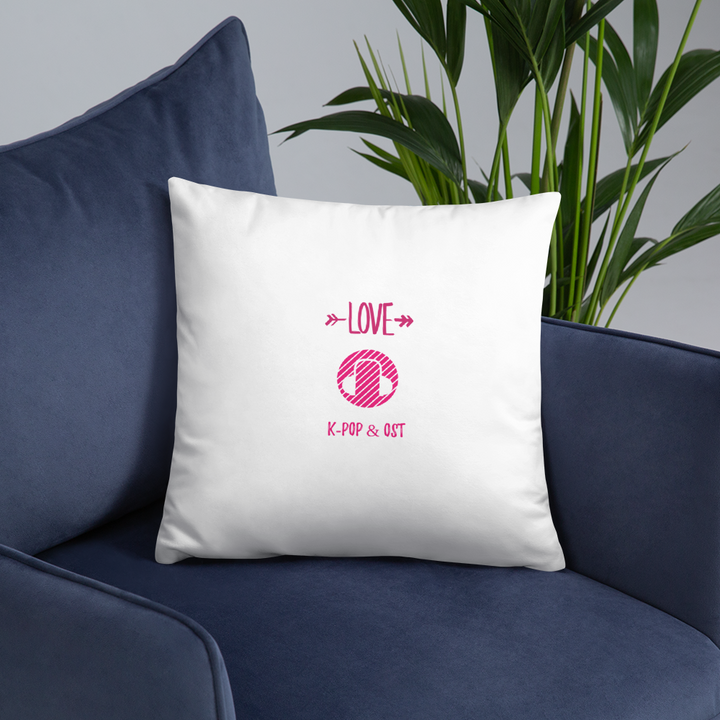 I Love K-Pop & OST Throw Pillow