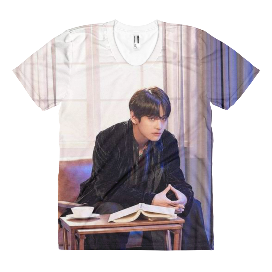 BTS V Sitting On A Chair Serious Aura Women Full Print T-Shirt