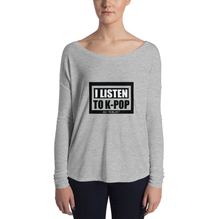 I Listen to Kpop Any Problem Women Long Sleeve Tee