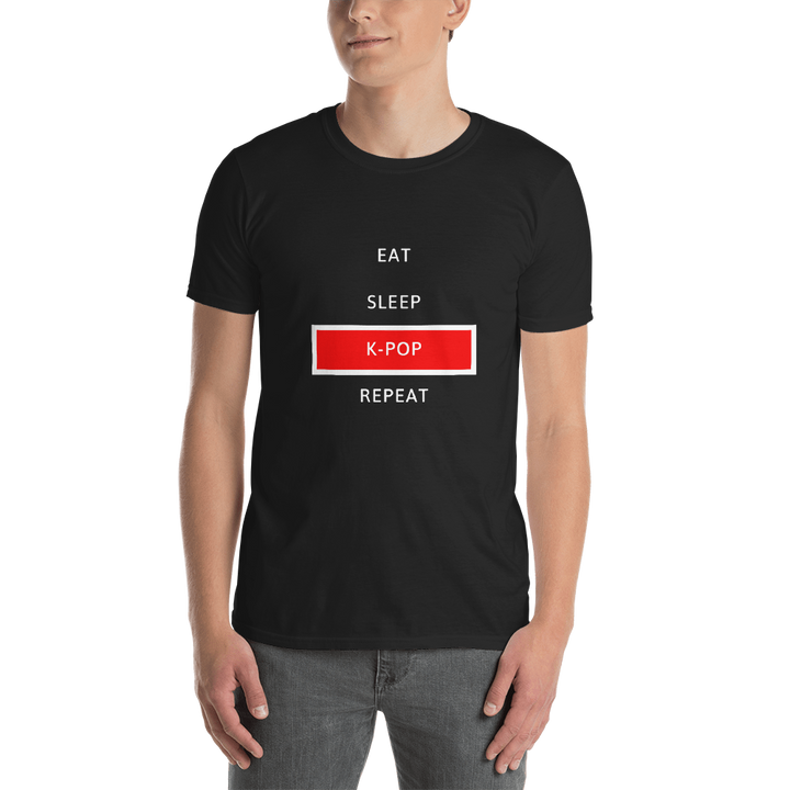 Eat Sleep K-Pop Repeat Unisex Short Sleeve T-shirt