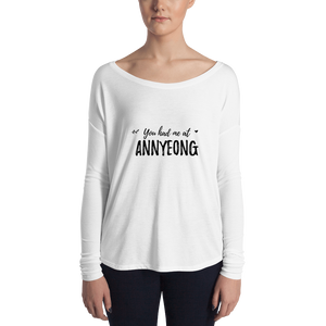 You Had Me At Annyeong Women Long Sleeve Tee