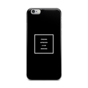 Stressed Depressed K-Pop Obsessed iPhone Case