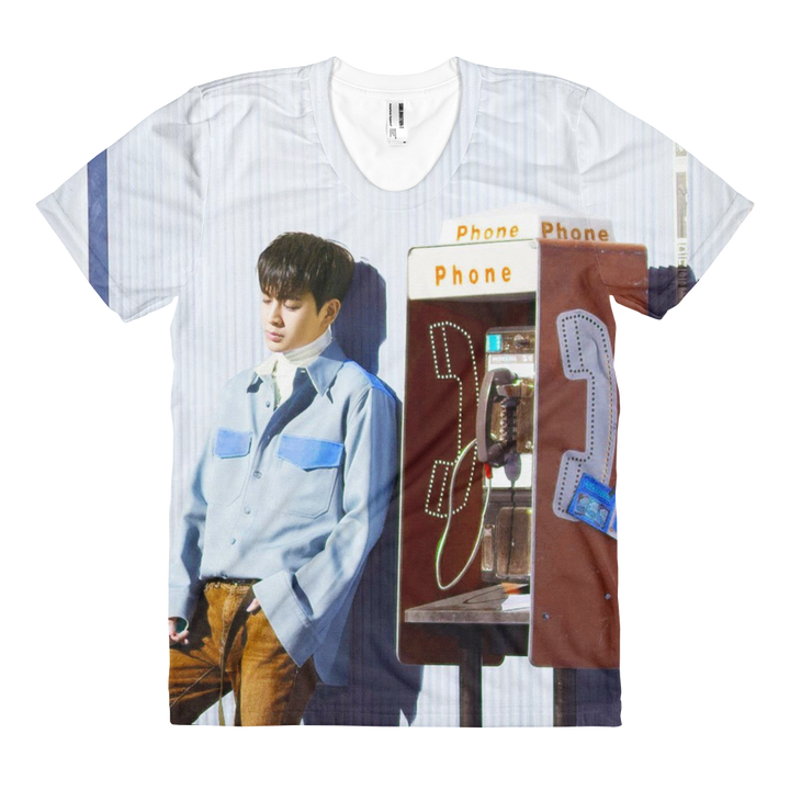 iKON Yunhyeong Beside Phone Station Women Full Print T-Shirt