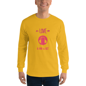 I Love K-Pop & OST Men Long Sleeve Tee