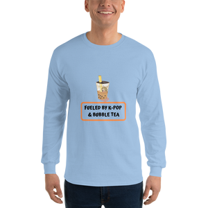 Fueled By K-Pop & Bubble Tea Men Long Sleeve Tee