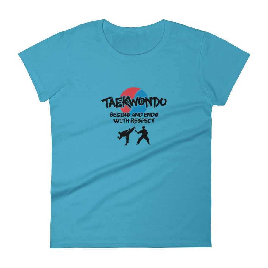 Taekwondo Begins and Ends with Respect  Women Short Sleeve T-shirt