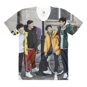 iKON Members Smile Casual Street Outfits Women Full Print T-Shirt
