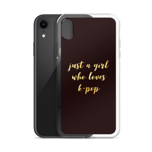 Just A Girl Who Loves K-Pop iPhone Case