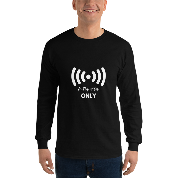K-Pop Vibes Only Men Long Sleeve Tee