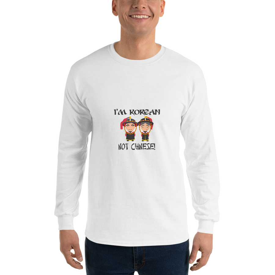 I'm Korean Not Chinese Men Long Sleeve Tee