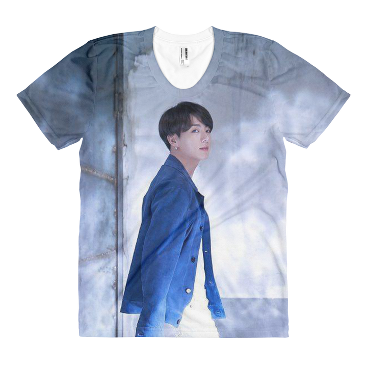 BTS Jungkook Handsome Side View Look Women Full Print T-Shirt