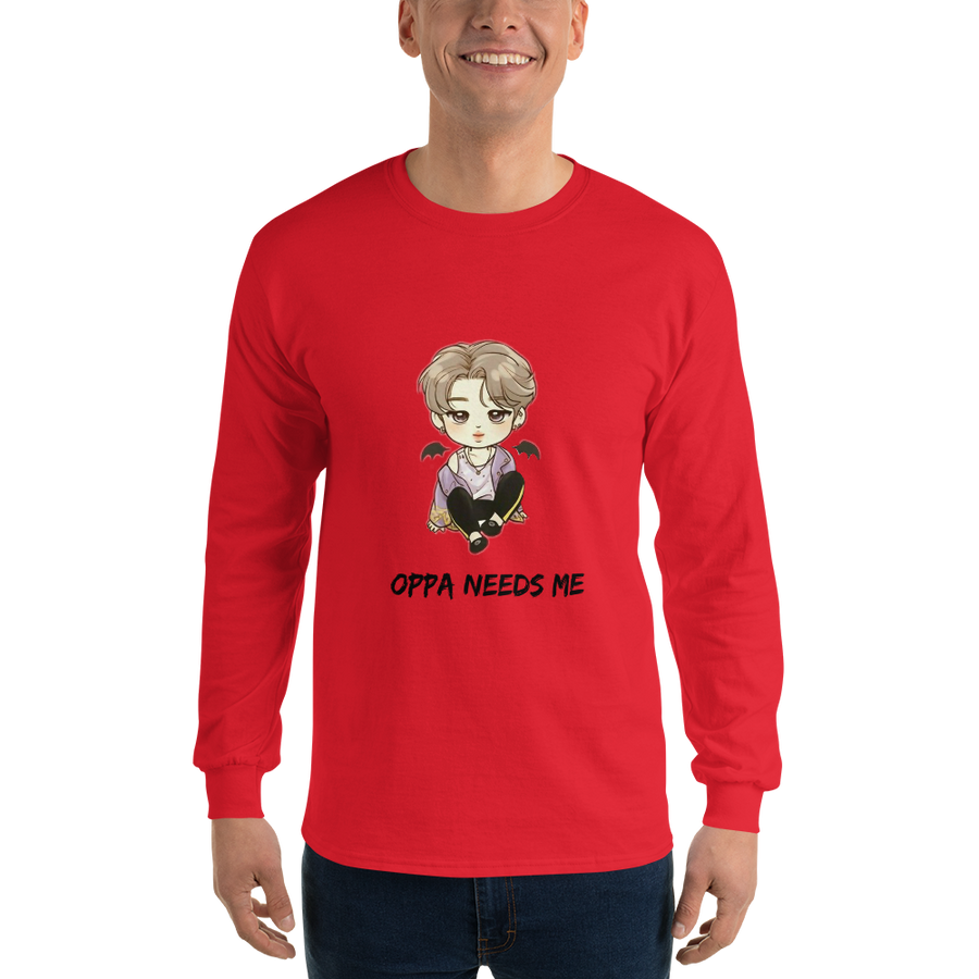 Oppa Needs Me Men Long Sleeve Tee