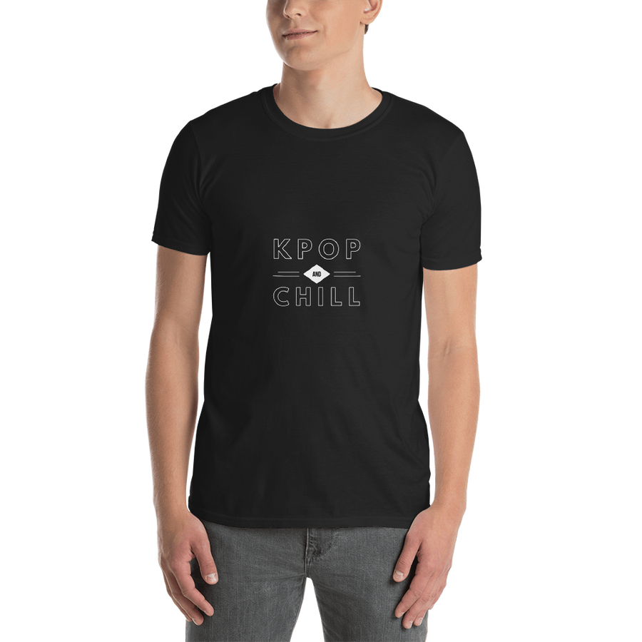 KPop And Chill Netflix Parody Unisex Short Sleeve T-shirt