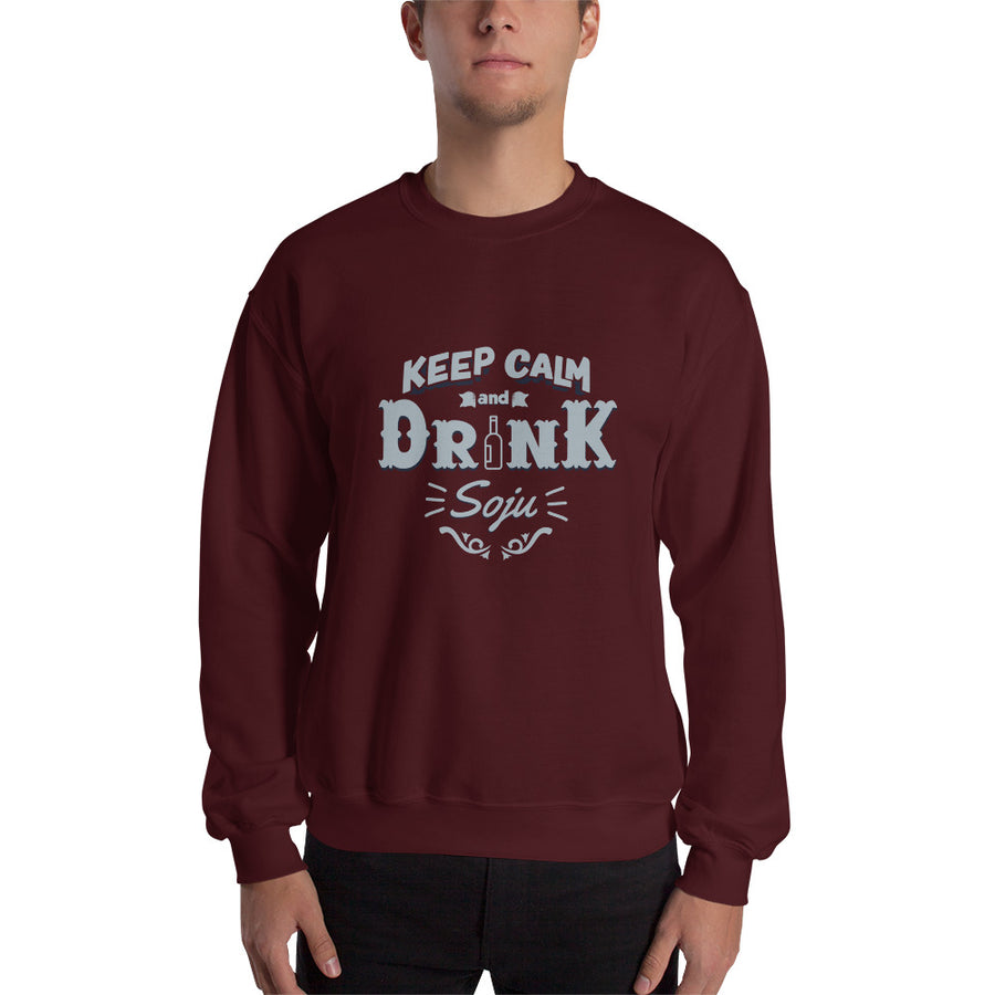 Keep Calm and Drink Soju Crewneck Sweatshirt
