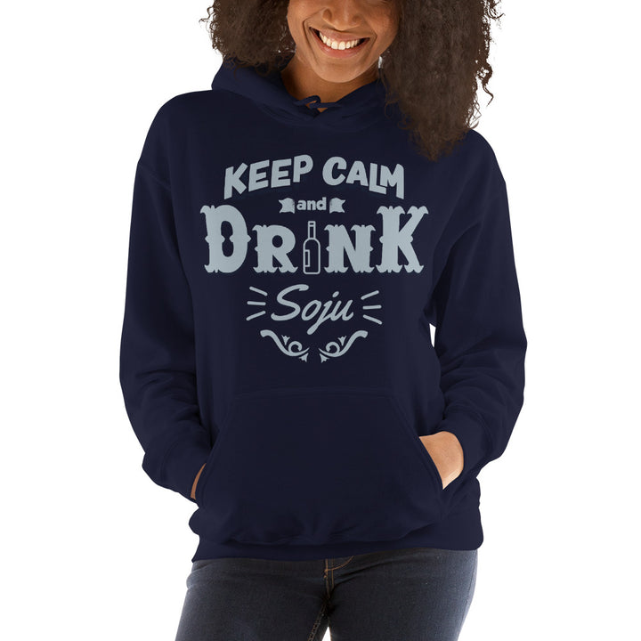 Keep Calm and Drink Soju Unisex Hoodie