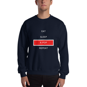 Eat Sleep K-Pop Repeat Crewneck Sweatshirt