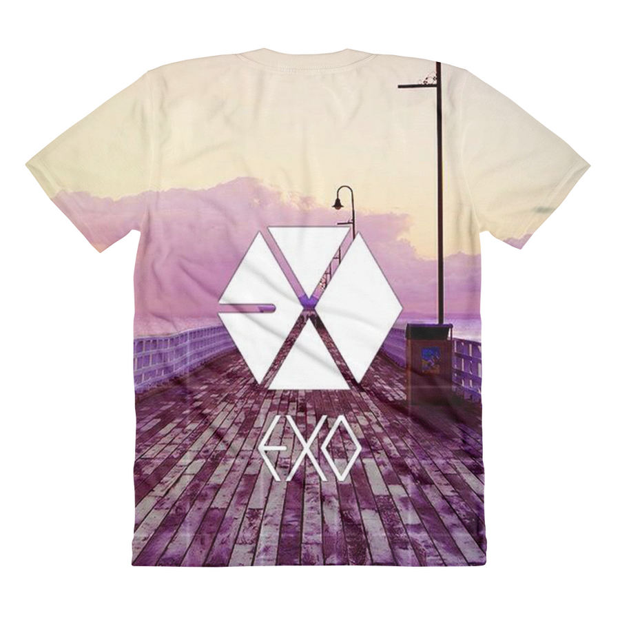 EXO Group Logo Calm Background Women Full Print T-Shirt
