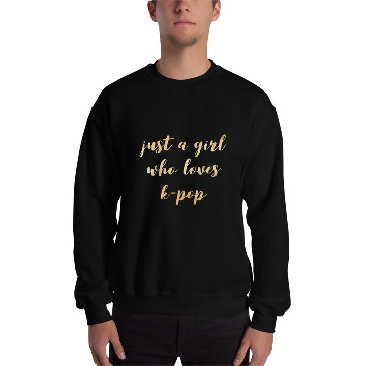Just A Girl Who Loves K-Pop Crewneck Sweatshirt